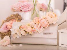 Virágos menyasszonyi táska