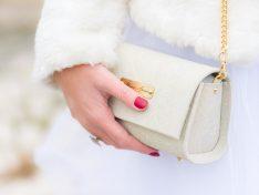 Menyasszonyi táska- csipkemintás